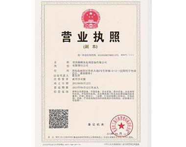 重庆水处理公司营业执照
